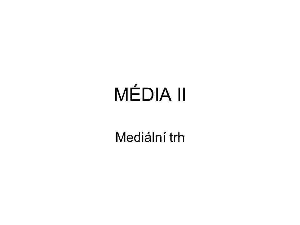MÉDIA II Mediální trh