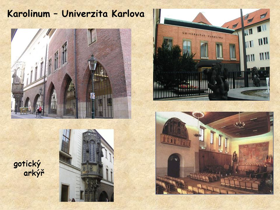 Karolinum – Univerzita Karlova gotický arkýř