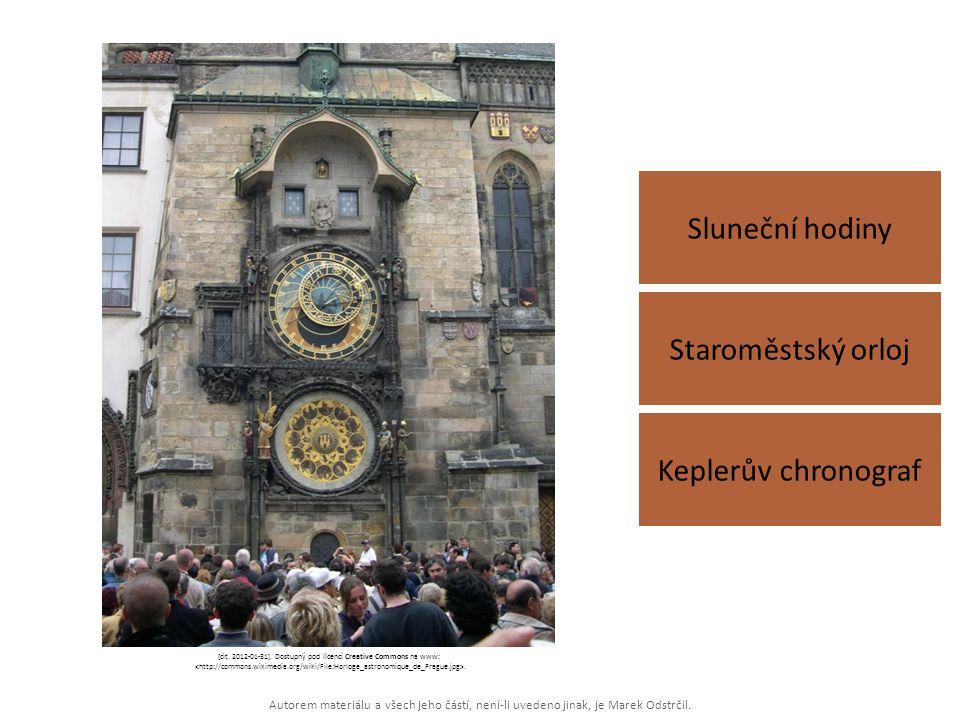 Autorem materiálu a všech jeho částí, není-li uvedeno jinak, je Marek Odstrčil. Sluneční hodiny Keplerův chronograf Staroměstský orloj [cit. 2012-01-3