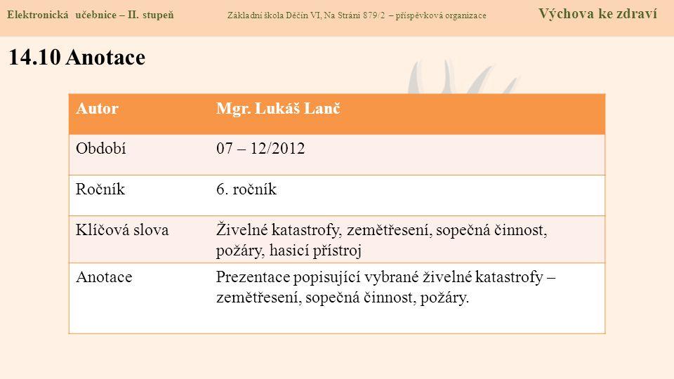 14.10 Anotace Elektronická učebnice – II.