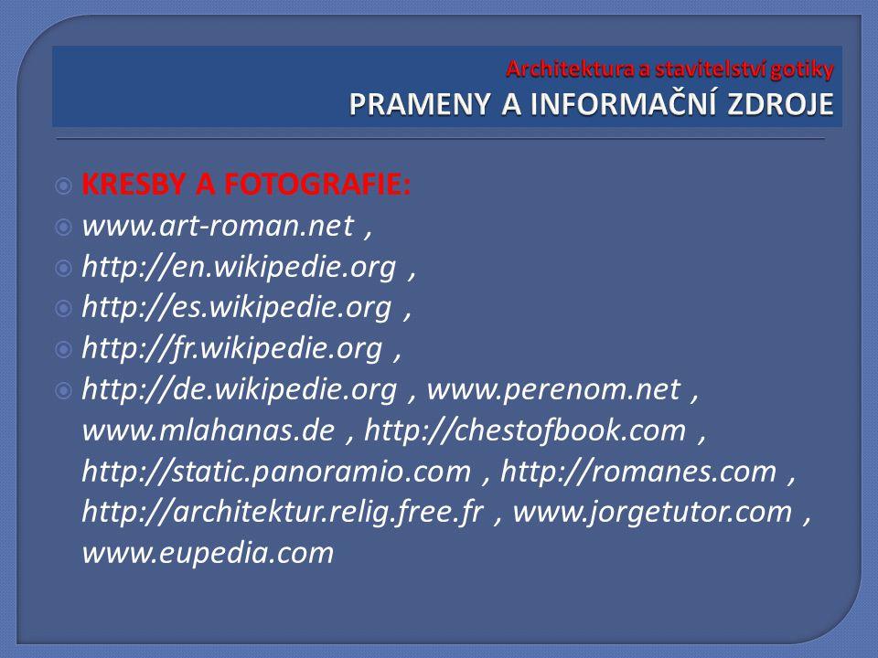  KRESBY A FOTOGRAFIE:  www.art-roman.net,  http://en.wikipedie.org,  http://es.wikipedie.org,  http://fr.wikipedie.org,  http://de.wikipedie.org