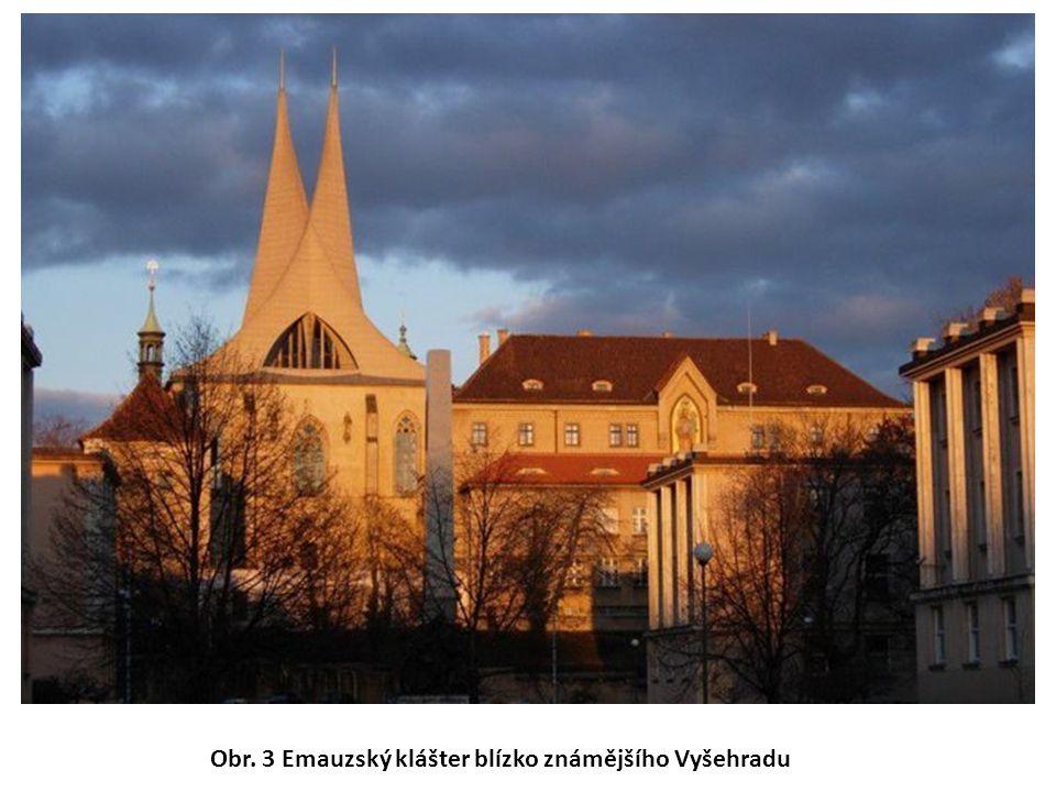 Obr. 3 Emauzský klášter blízko známějšího Vyšehradu