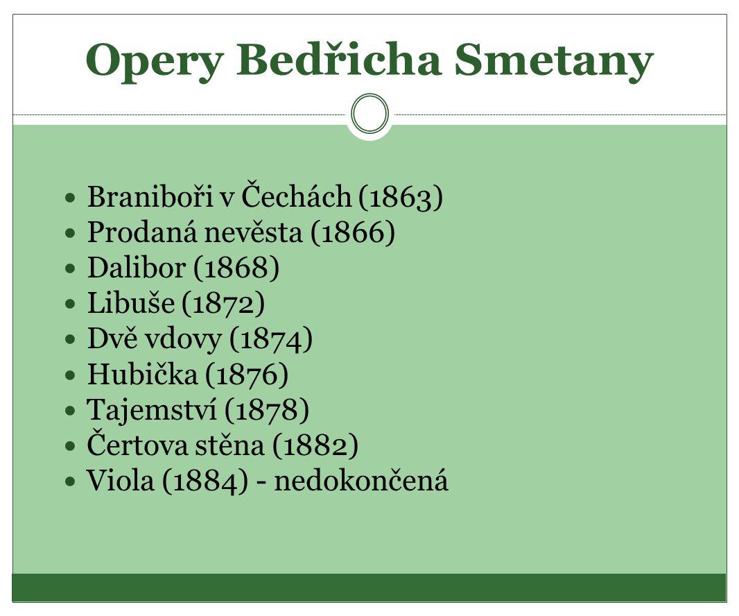 Opera Braniboři v Čechách Vývěska k premiéře Braniborů v Čechách, 1866.