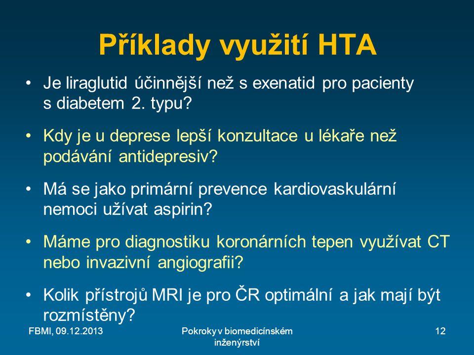 Příklady využití HTA Je liraglutid účinnější než s exenatid pro pacienty s diabetem 2.