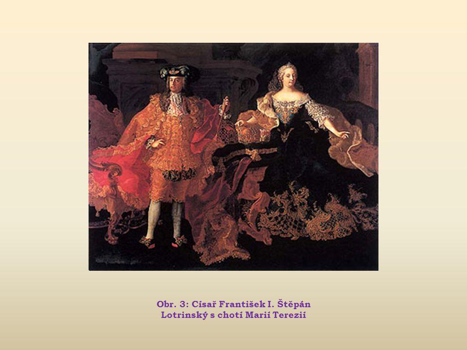Obr. 3: Císař František I. Štěpán Lotrinský s chotí Marií Terezií