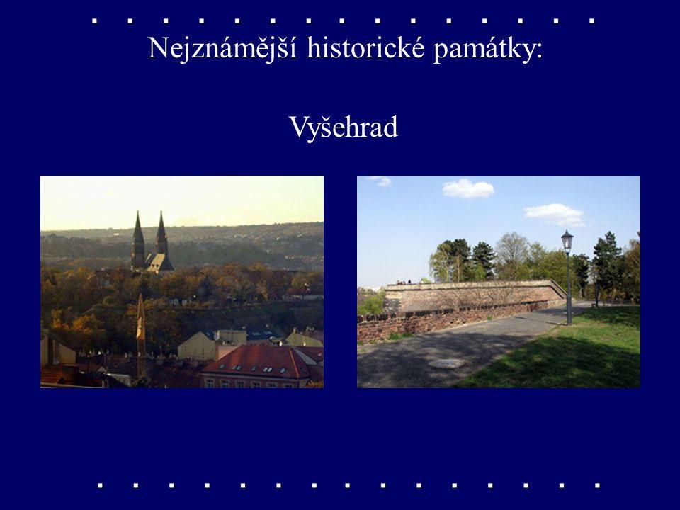 Nejznámější historické památky: chrám svatého Mikuláše na Malé Straně