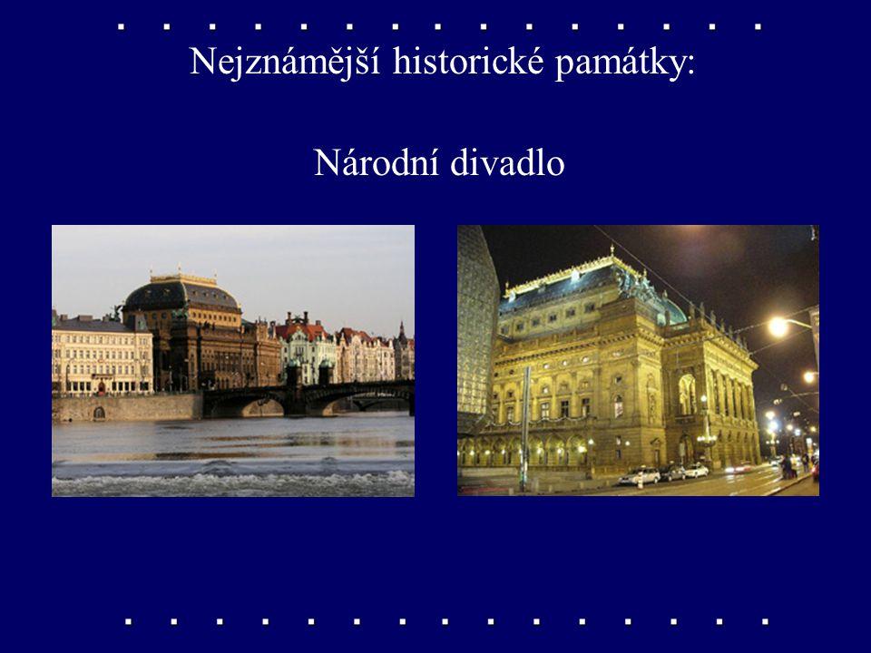 Nejznámější historické památky: Vyšehrad