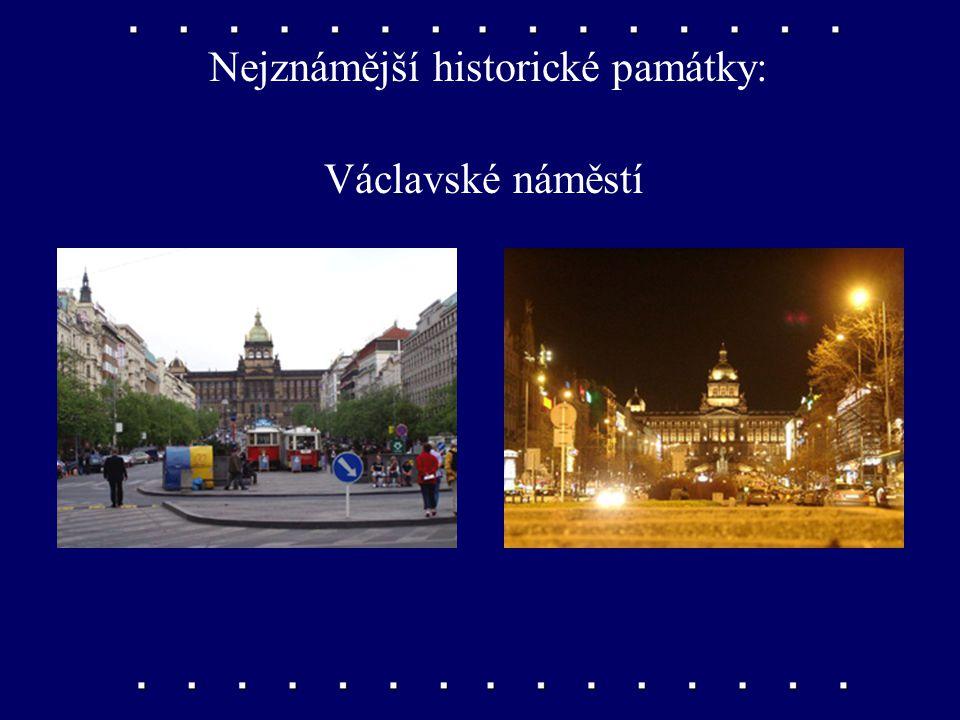 Nejznámější historické památky: Národní divadlo
