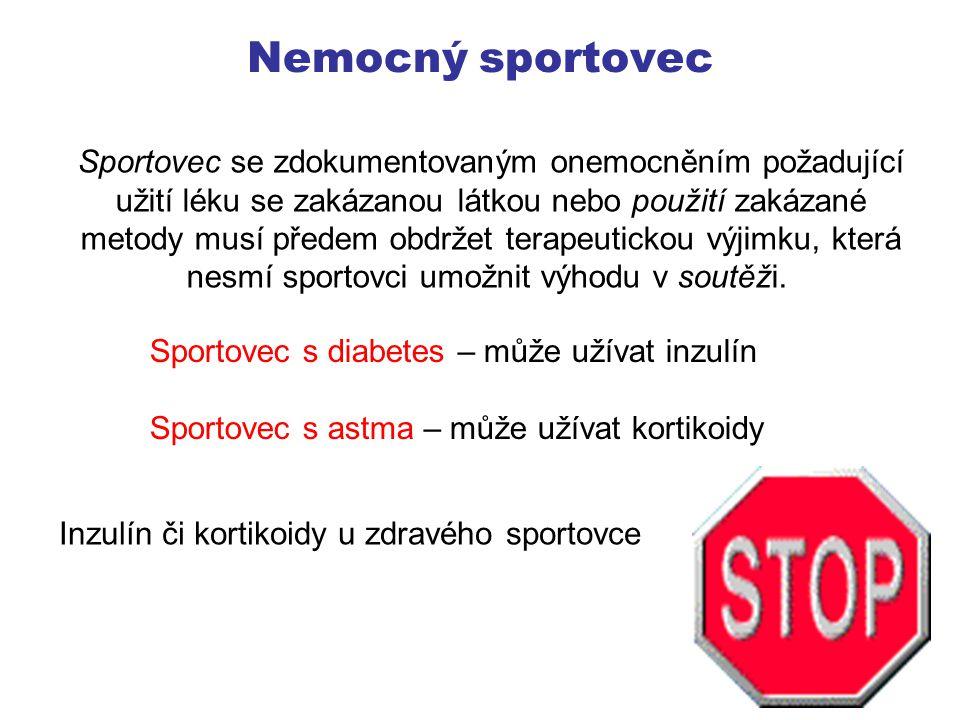 Metody užíváni dopingu Polknutím Injekce do svalů Inhalace Formou kapek (nosní sliznice) Formou čípků Formou náplastí