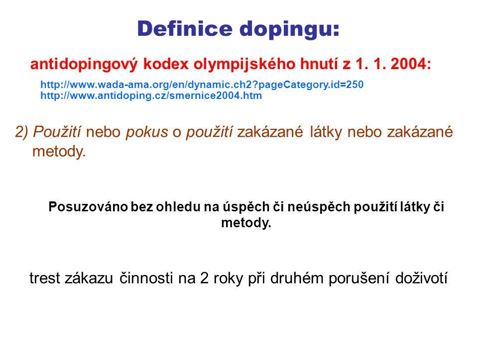 Definice dopingu: 3) Odmítnutí nebo nedostavení se k odběru vzorku.