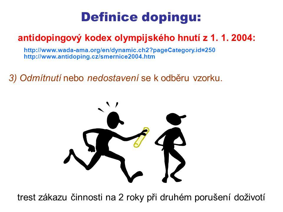 Definice dopingu: 4) Porušení pravidel dostupnosti sportovce pro testování mimo soutěž.