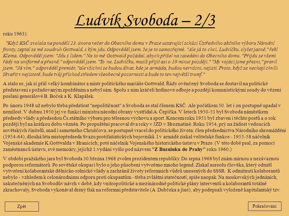 Ludvík Svoboda – 2/3 Zpět roku 1963):