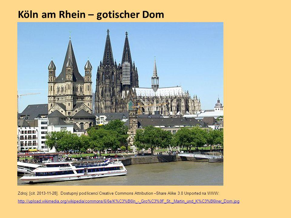 Köln am Rhein – gotischer Dom Zdroj: [cit.2013-11-28].