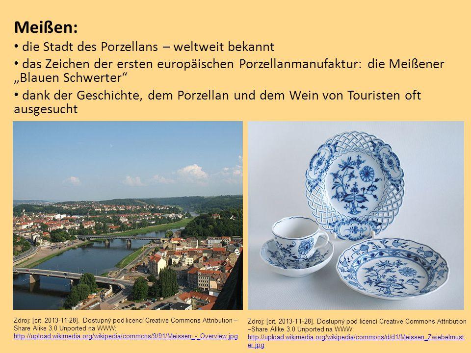 """Meißen: die Stadt des Porzellans – weltweit bekannt das Zeichen der ersten europäischen Porzellanmanufaktur: die Meißener """"Blauen Schwerter"""" dank der"""