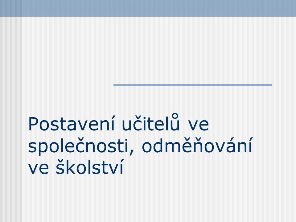 Historický vývoj postavení učitelů v českých zemích J.A.