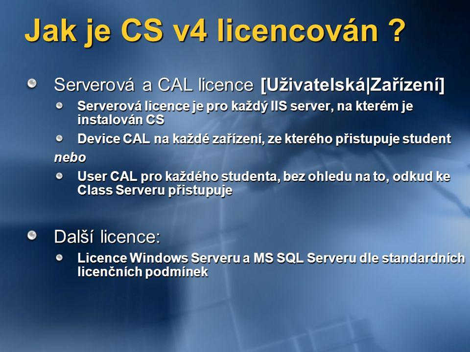 Jak je CS v4 licencován .
