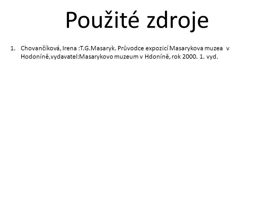1.Chovančíková, Irena :T.G.Masaryk.