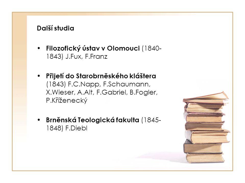 Počáteční učitelská éra Působení na gymnáziu ve Znojmě (1849-1850) A.Spallek Zkoušky z učitelské způsobilosti (1850- 1851) Písemná práce – R.Kner, A.Baumgartner Klauzurní práce a ústní zkoušky - R.Kner, A.Baumgartner, Ch.Doppler Technické učiliště v Brně (1851) J.Helcelet