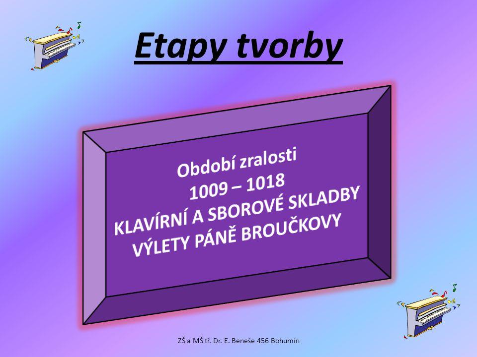 Etapy tvorby ZŠ a MŠ tř. Dr. E. Beneše 456 Bohumín