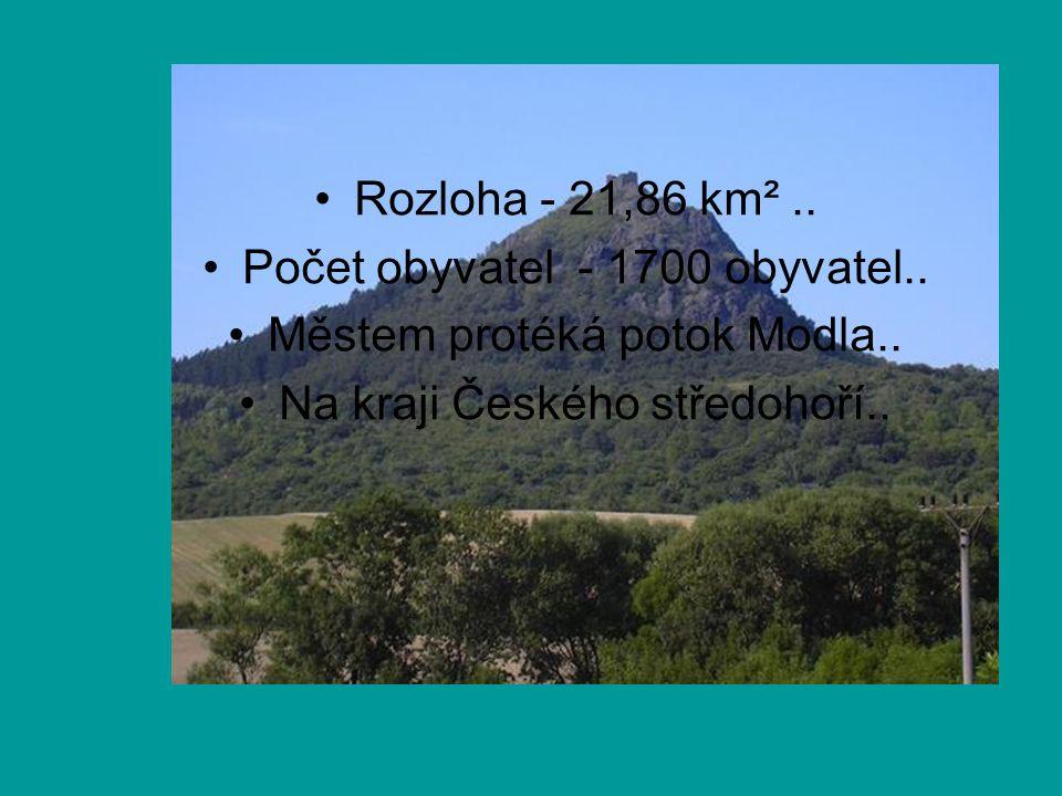 Rozloha - 21,86 km².. Počet obyvatel - 1700 obyvatel.. Městem protéká potok Modla.. Na kraji Českého středohoří..