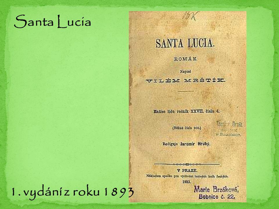 Santa Lucia 1. vydání z roku 1893