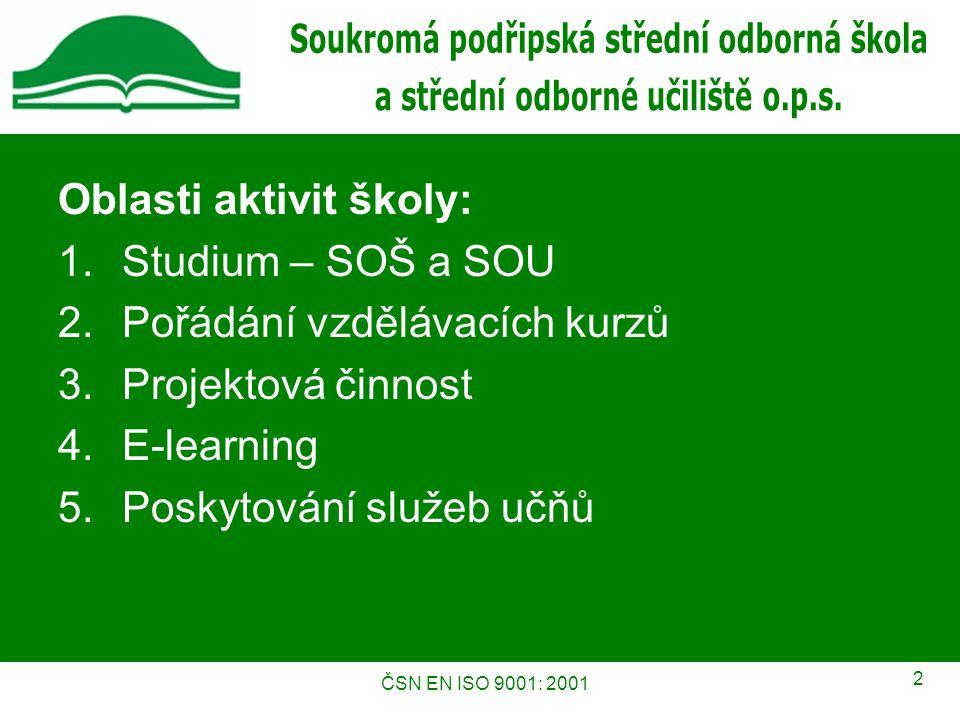ČSN EN ISO 9001: 2001 13 Kontakty Kontaktní osoby Mgr.