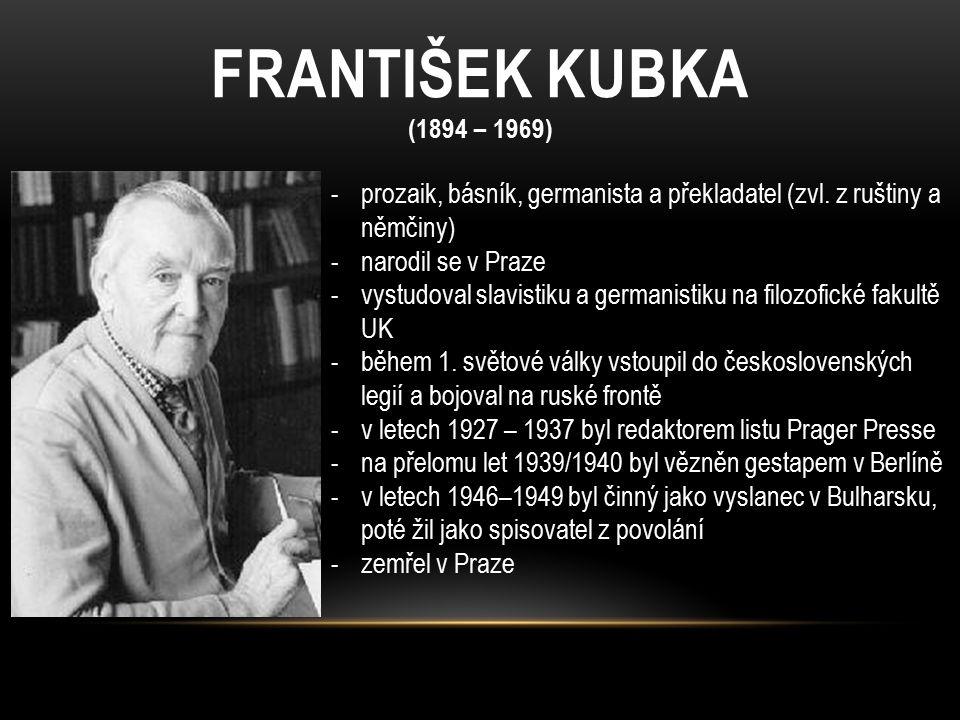 DÍLO F.KUBKY Karlštejnské vigilie – novela, Karel IV.