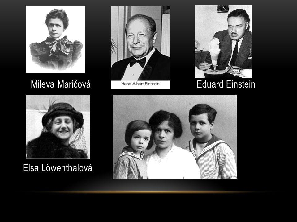 Mileva Maričová Eduard Einstein Elsa Löwenthalová