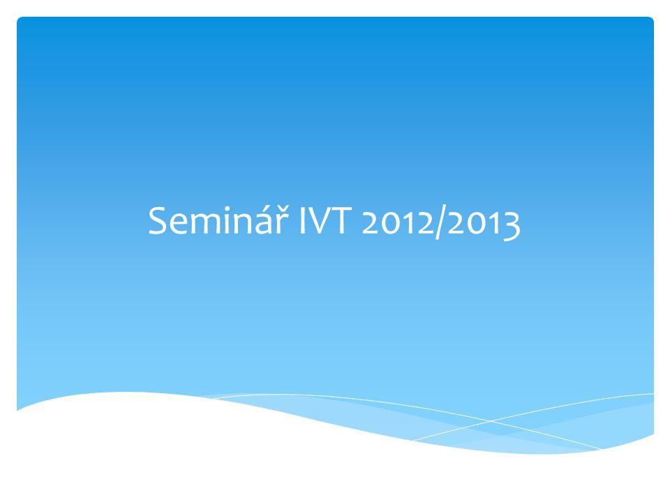  Rozvrh učiva na rok 2012/2013  Požadavky ke zkouškám  Požadavky k maturitní zkoušce 2013  Učebny  Studijní materiál  Hardware a software vybavení pro rok 2012/2013 Program hodiny