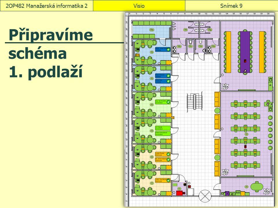 VisioSnímek 102OP482 Manažerská informatika 2 Vzhled stránky Nastavení stránky: Z místní nabídky záložky stránky zadáme příkaz Vzhled stránky.