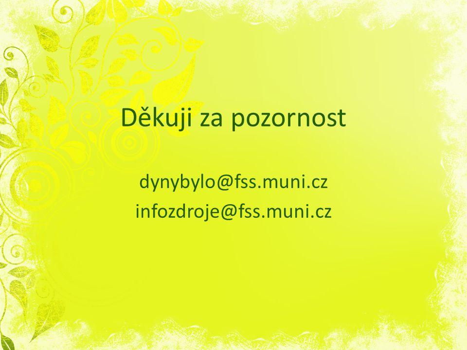 Děkuji za pozornost dynybylo@fss.muni.cz infozdroje@fss.muni.cz
