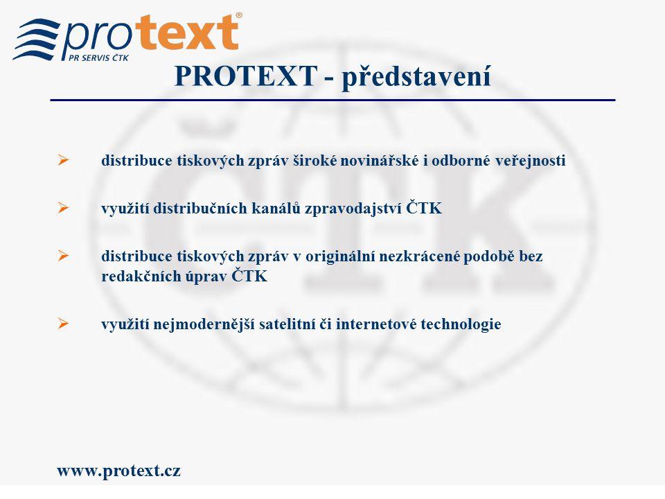 www.protext.cz Příjemci tiskových zpráv tisková zpráva ČTK média státní správa ekonomická sféra široká veřejnost PROTEXT je součástí monitoringu médií Newton IT PROTEXT je součástí monitoringu médií Newton IT tiskové zprávy zdarma na www.protext.cz tiskové zprávy zdarma na www.protext.cz Klienti společnosti Newton ITŠiroká veřejnost Odběratelé zpravodajství ČTK