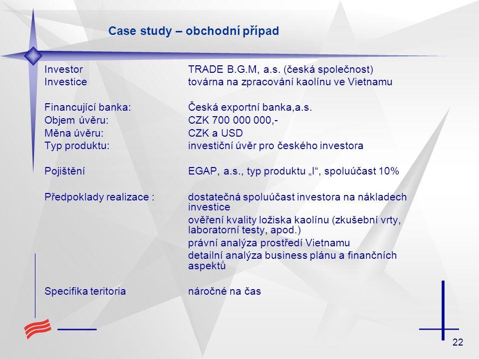 22 InvestorTRADE B.G.M, a.s.