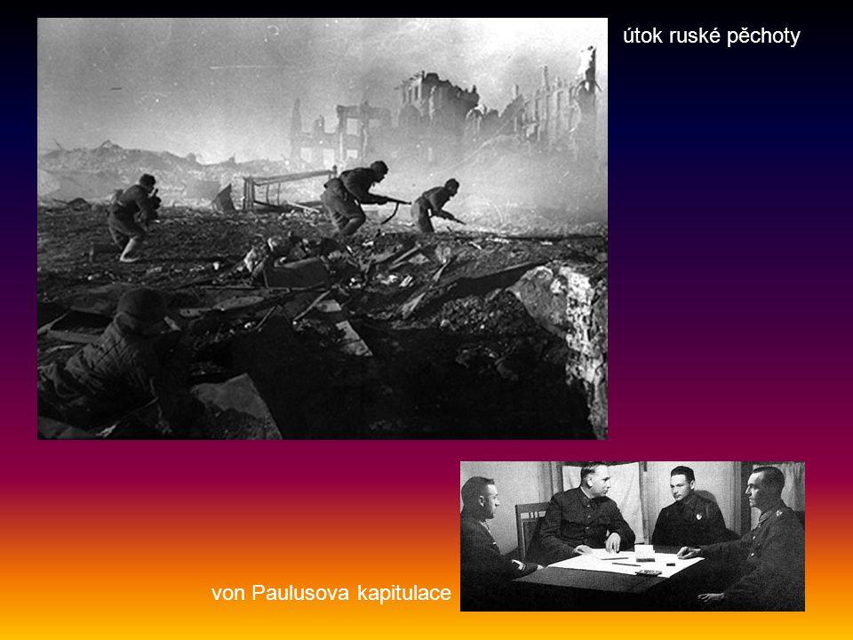 útok ruské pěchoty von Paulusova kapitulace