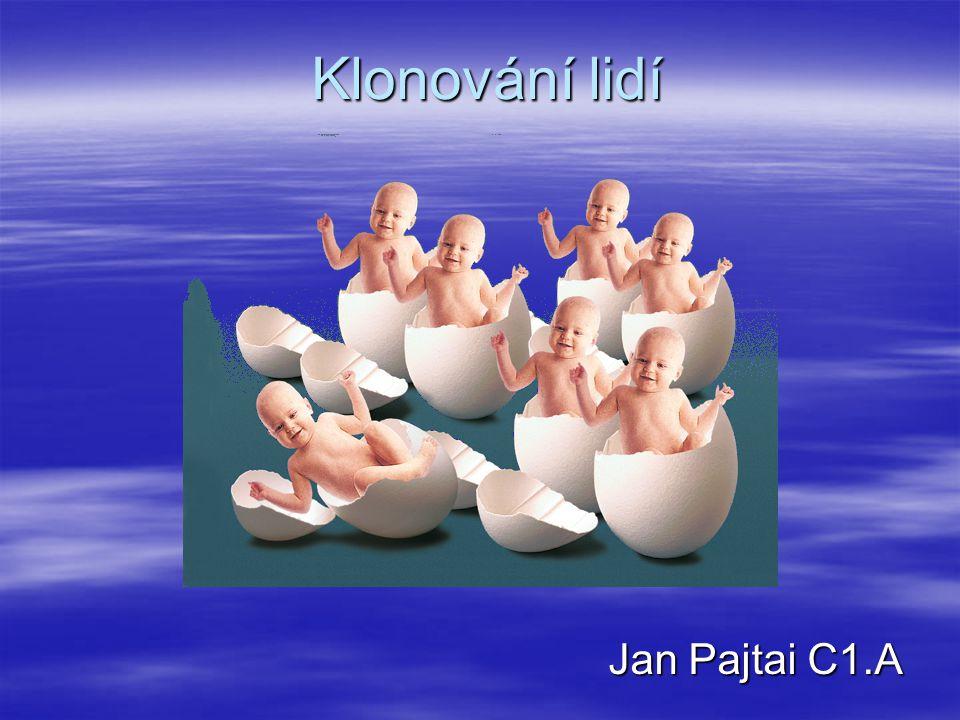 Klonování lidí Jan Pajtai C1.A