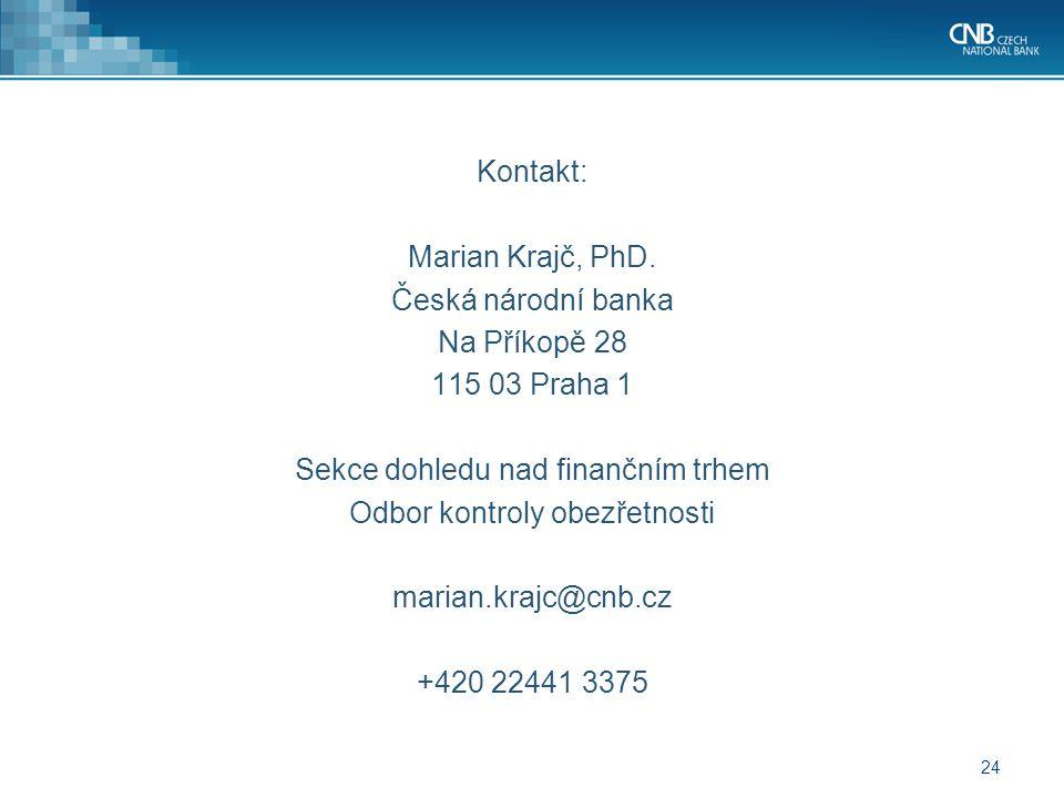 24 Kontakt: Marian Krajč, PhD.