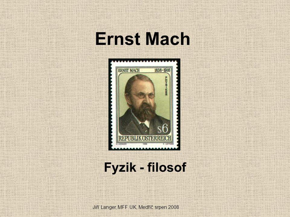 """Einstein a Machův princip Einstein zdůrazňoval, že Machova kritika Newtonova absolutního prostoru ho inspirovala při tvoření obecné relativity Termín """"Machův princip zavedl v r."""