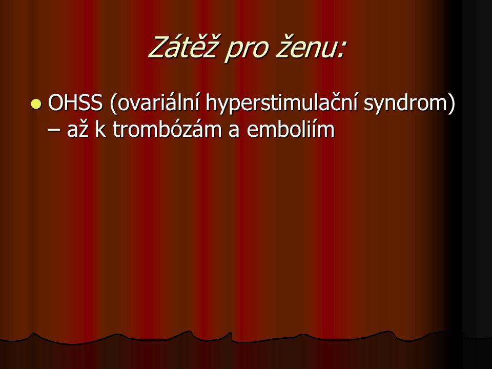 Zátěž pro ženu: OHSS (ovariální hyperstimulační syndrom) – až k trombózám a emboliím OHSS (ovariální hyperstimulační syndrom) – až k trombózám a embol