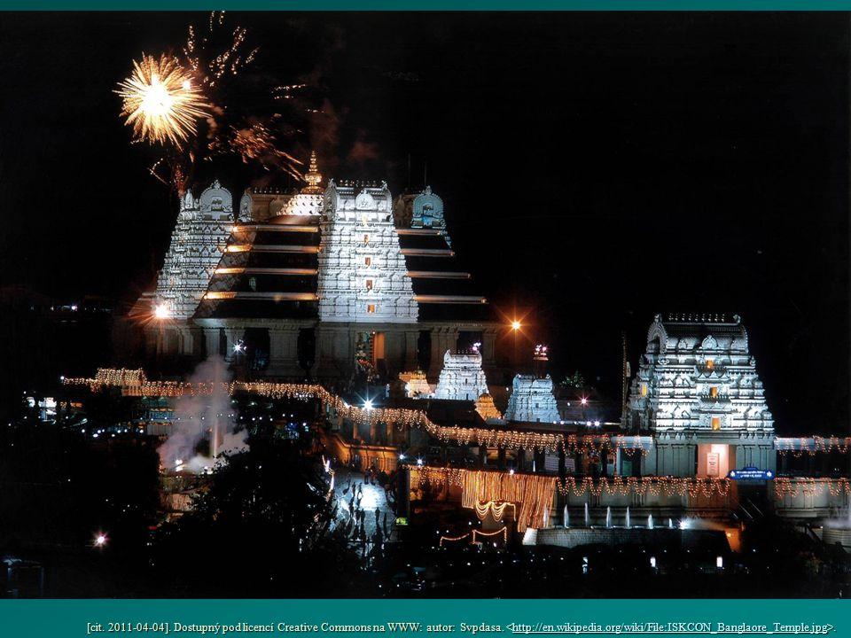 [cit. 2011-04-04]. Dostupný pod licencí Creative Commons na WWW: autor: Svpdasa.. http://en.wikipedia.org/wiki/File:ISKCON_Banglaore_Temple.jpg