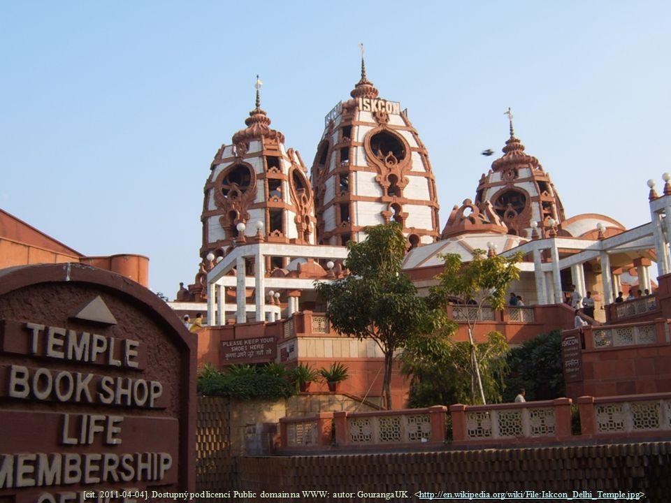 [cit. 2011-04-04]. Dostupný pod licencí Public domain na WWW: autor: GourangaUK.. http://en.wikipedia.org/wiki/File:Iskcon_Delhi_Temple.jpg