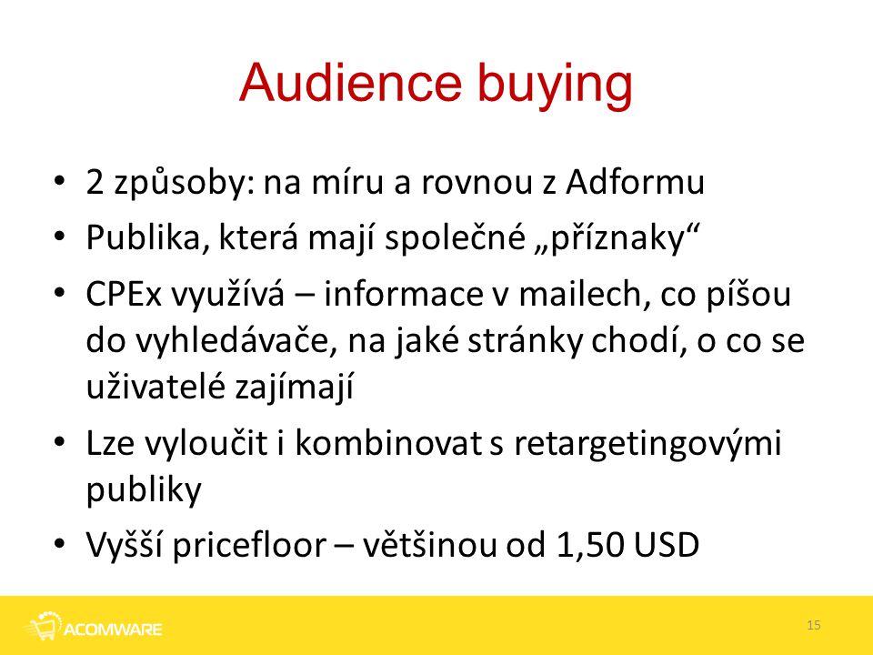 """Audience buying 2 způsoby: na míru a rovnou z Adformu Publika, která mají společné """"příznaky"""" CPEx využívá – informace v mailech, co píšou do vyhledáv"""
