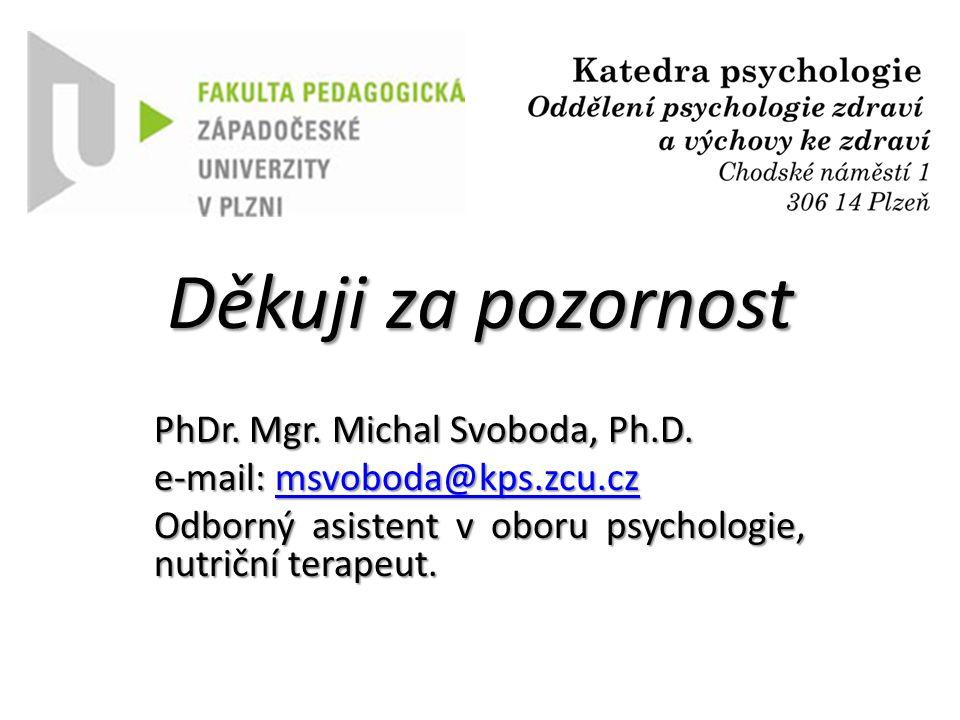 Děkuji za pozornost PhDr.Mgr. Michal Svoboda, Ph.D.
