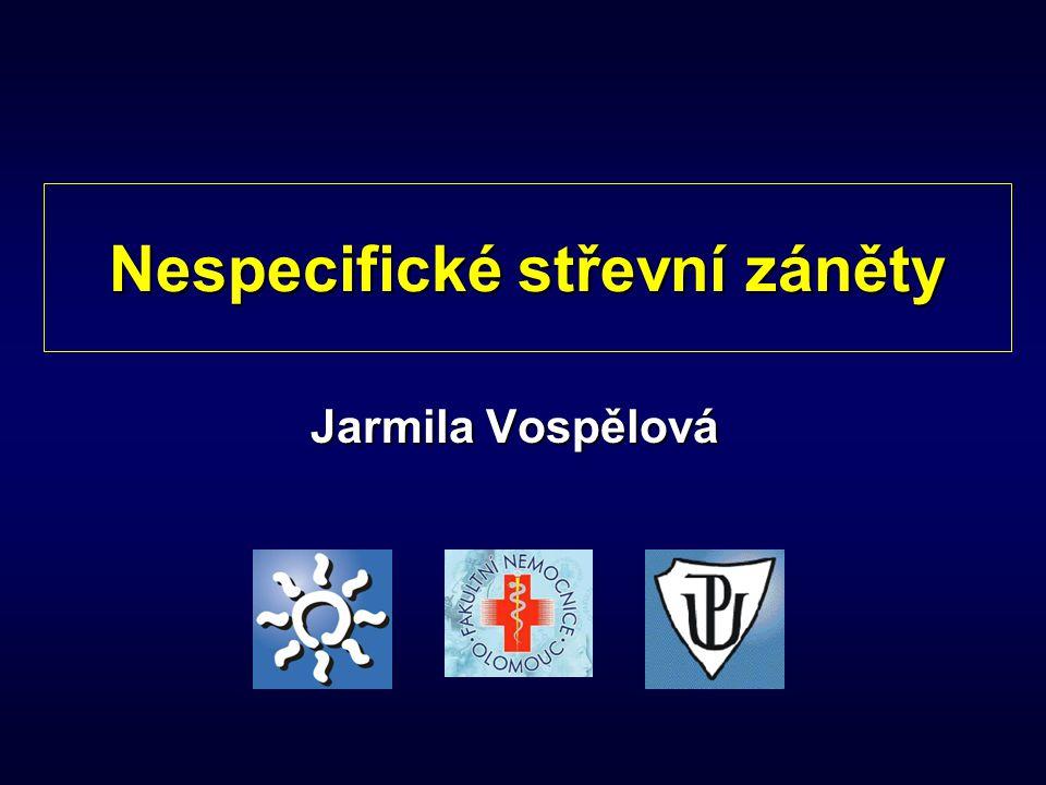 Nespecifické střevní záněty Jarmila Vospělová
