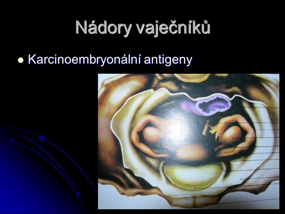 Nádory vaječníků Karcinoembryonální antigeny Karcinoembryonální antigeny