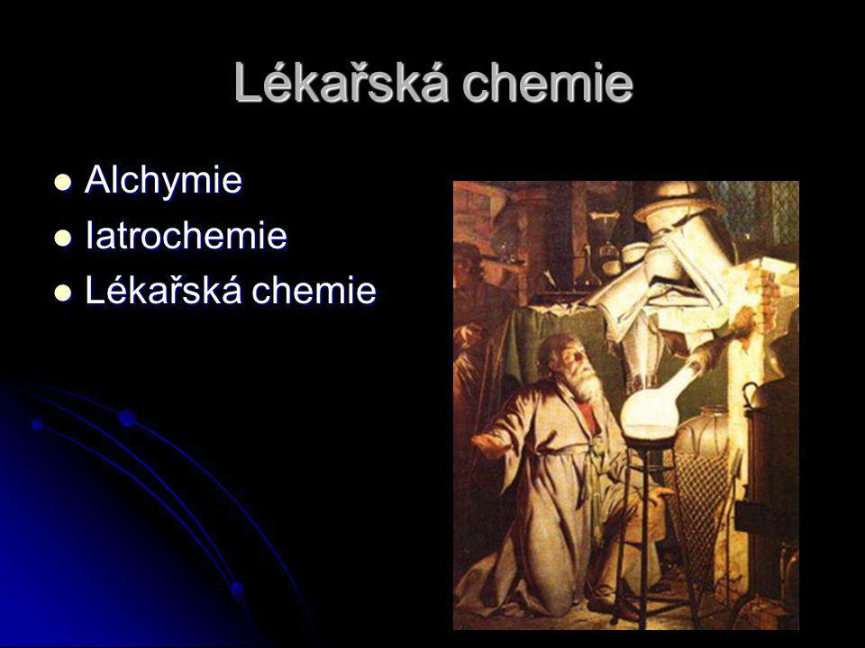 Lékařská chemie Alchymie Alchymie Iatrochemie Iatrochemie Lékařská chemie Lékařská chemie