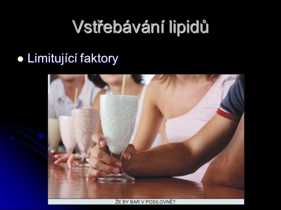 Vstřebávání lipidů Limitující faktory Limitující faktory