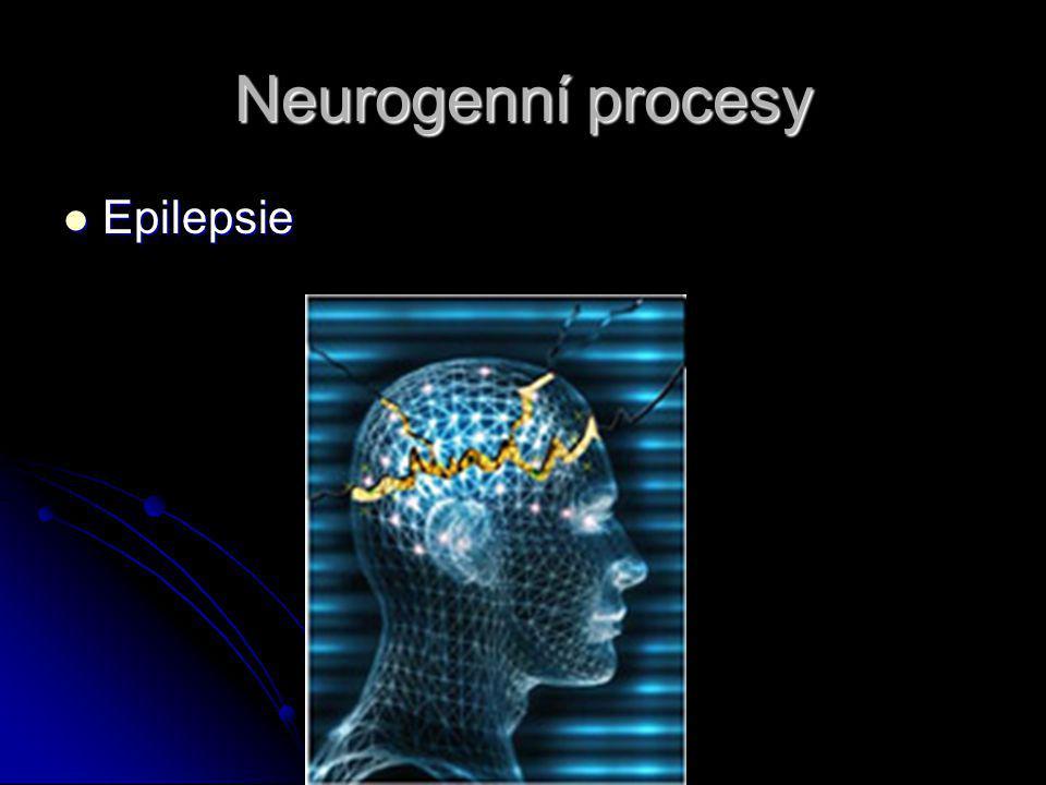 Neurogenní procesy Epilepsie Epilepsie