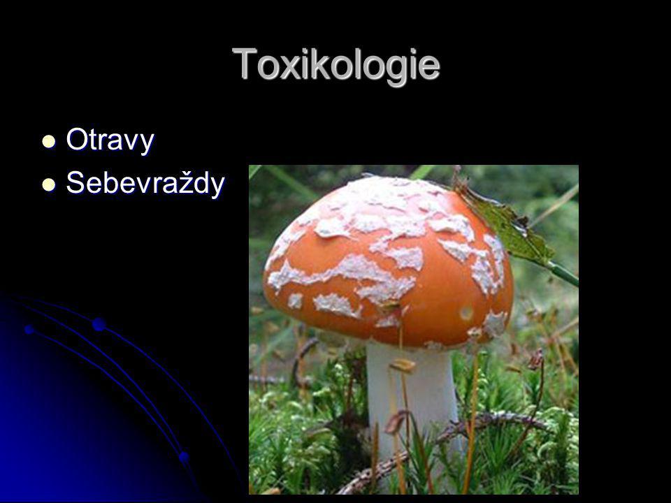 Toxikologie Otravy Otravy Sebevraždy Sebevraždy