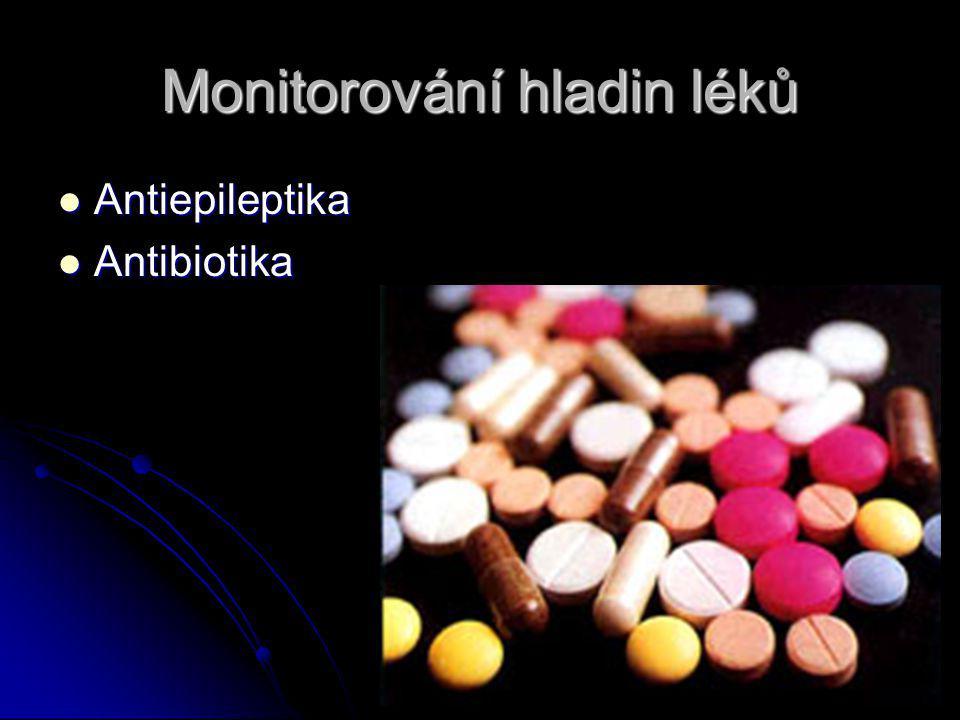 Monitorování hladin léků Antiepileptika Antiepileptika Antibiotika Antibiotika
