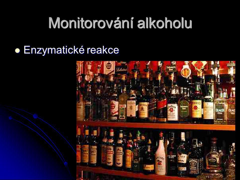 Monitorování alkoholu Enzymatické reakce Enzymatické reakce